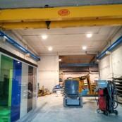 Proyecto de iluminación en empresa construcción metálica