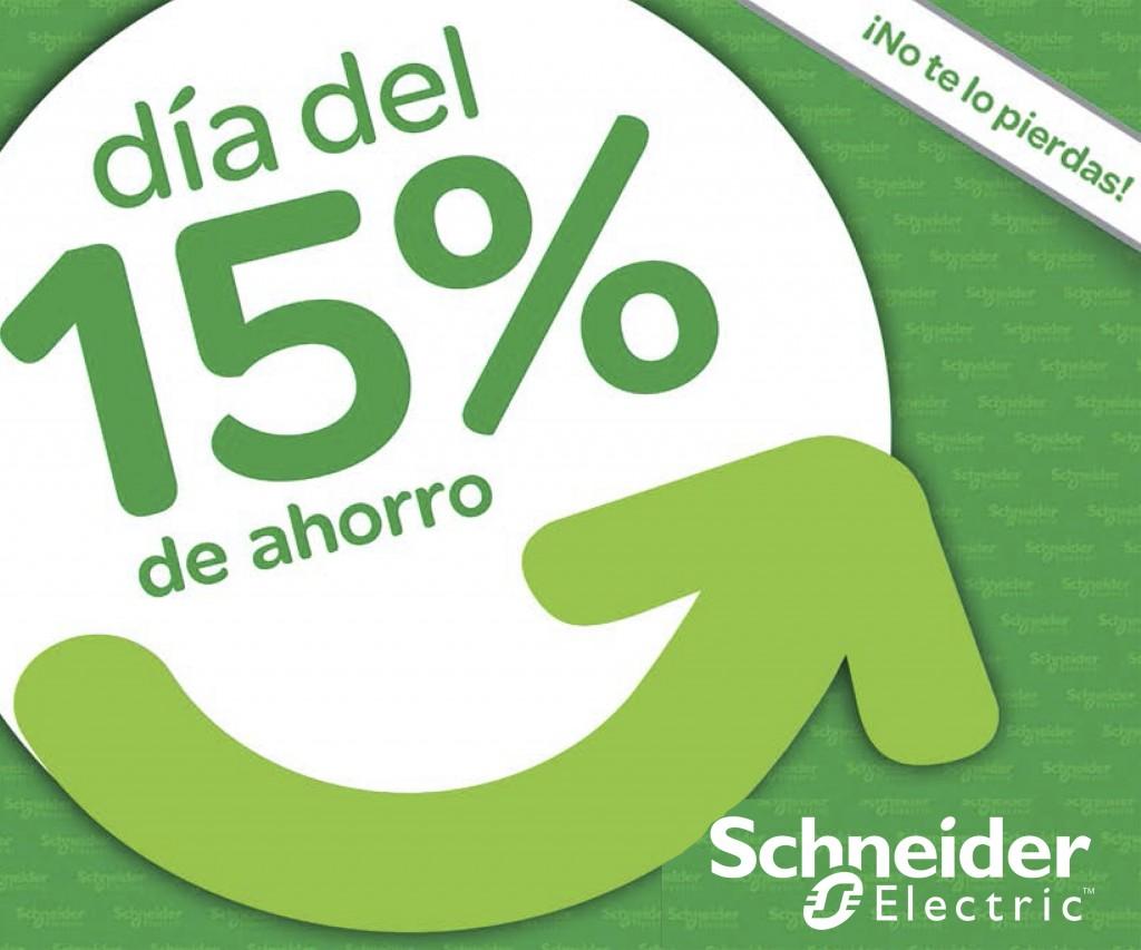 Promoción 15% descuento en productos Schneider Electric