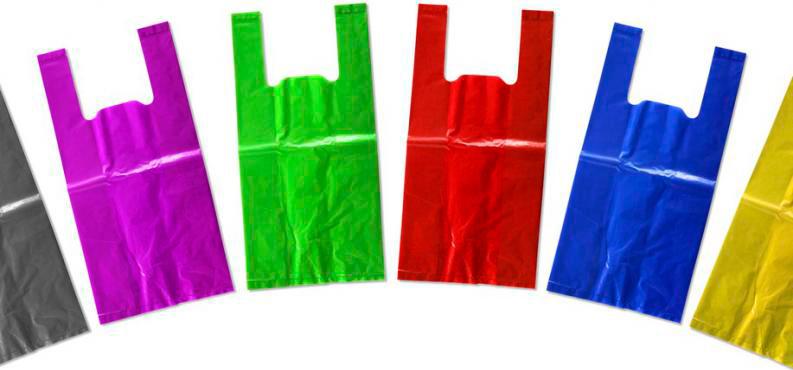 Bolsas de plástico de colores