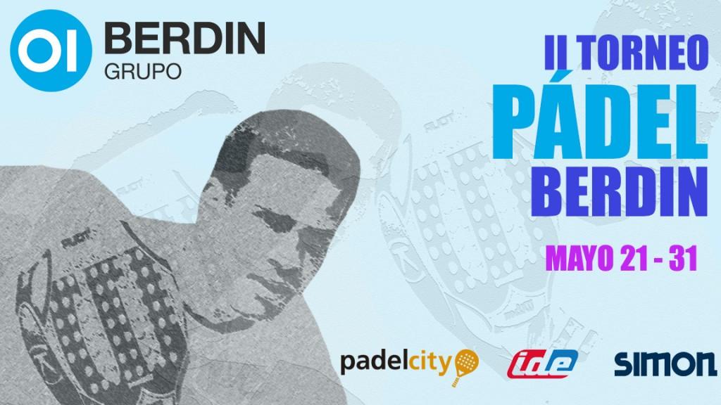 Cartel Valencia II Torneo Pádel Berdin