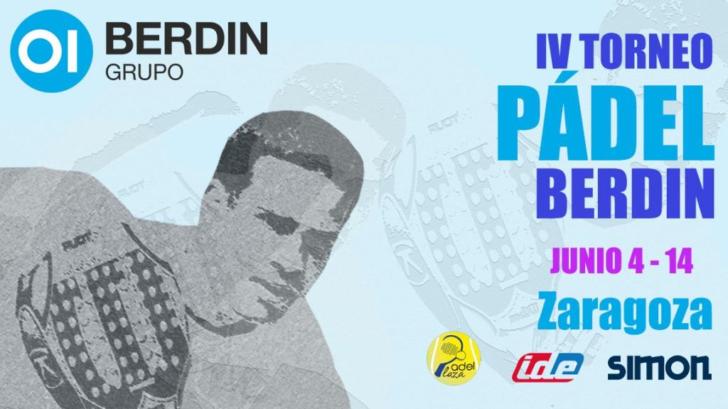 Cartel Zaragoza IV Torneo Pádel Berdin